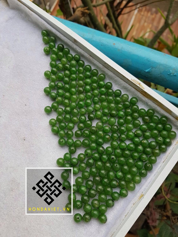 Bi (hạt) Ngọc Bích thành phẩm, dùng để làm Vòng tay, Chuỗi hạt