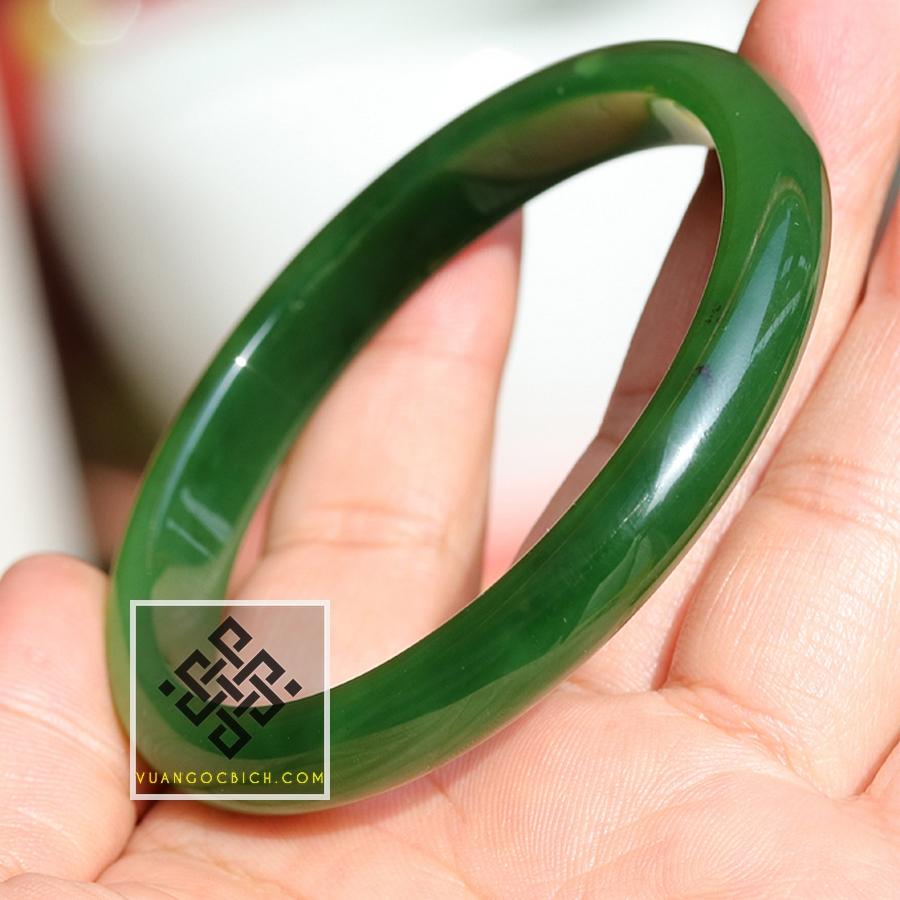 Vòng Tay Ngọc Bích Nephrite Jade Bản Liền siêu VVIP - 18