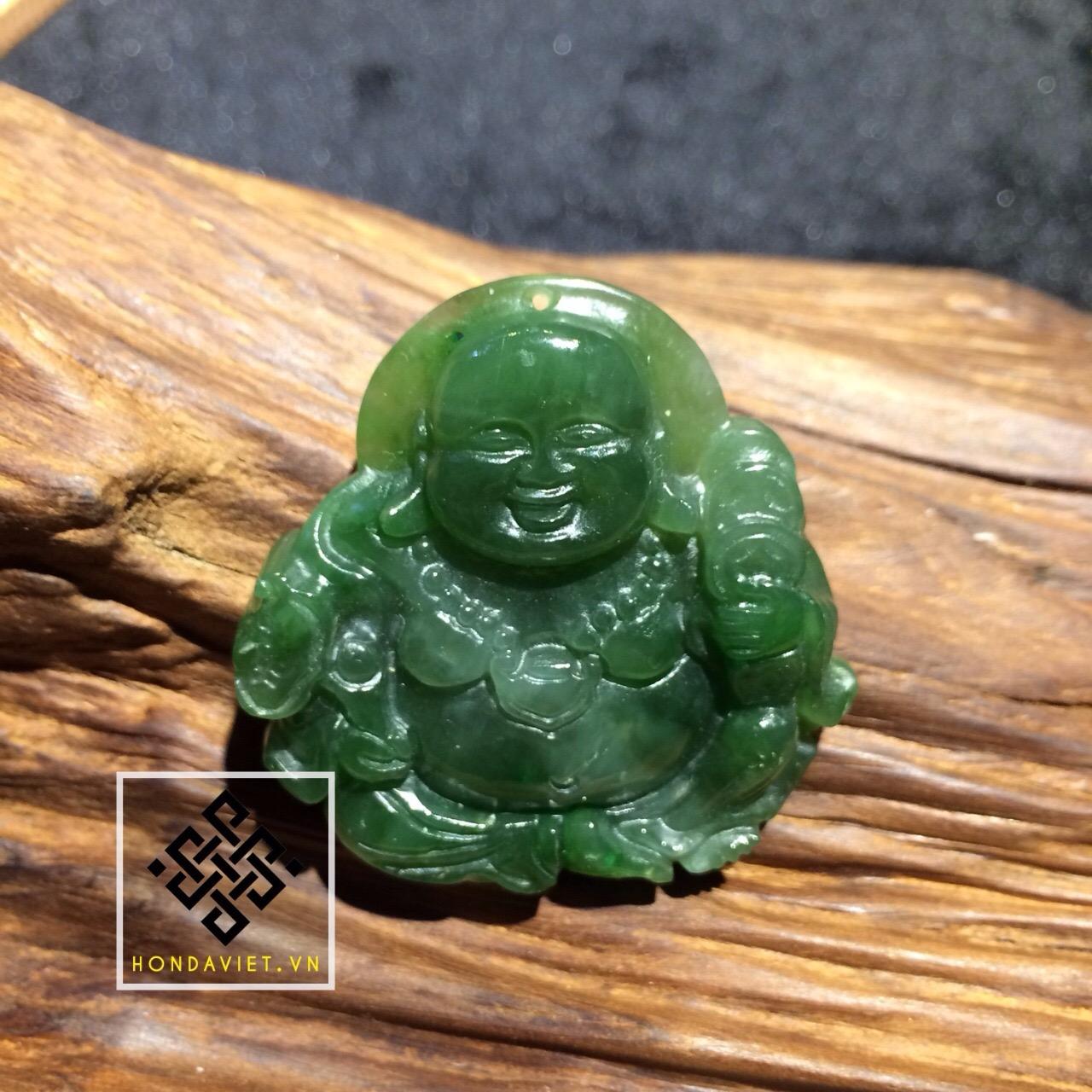 Mặt Dây Chuyền Phật Di Lặc Ngọc Bích (MD021) - 1