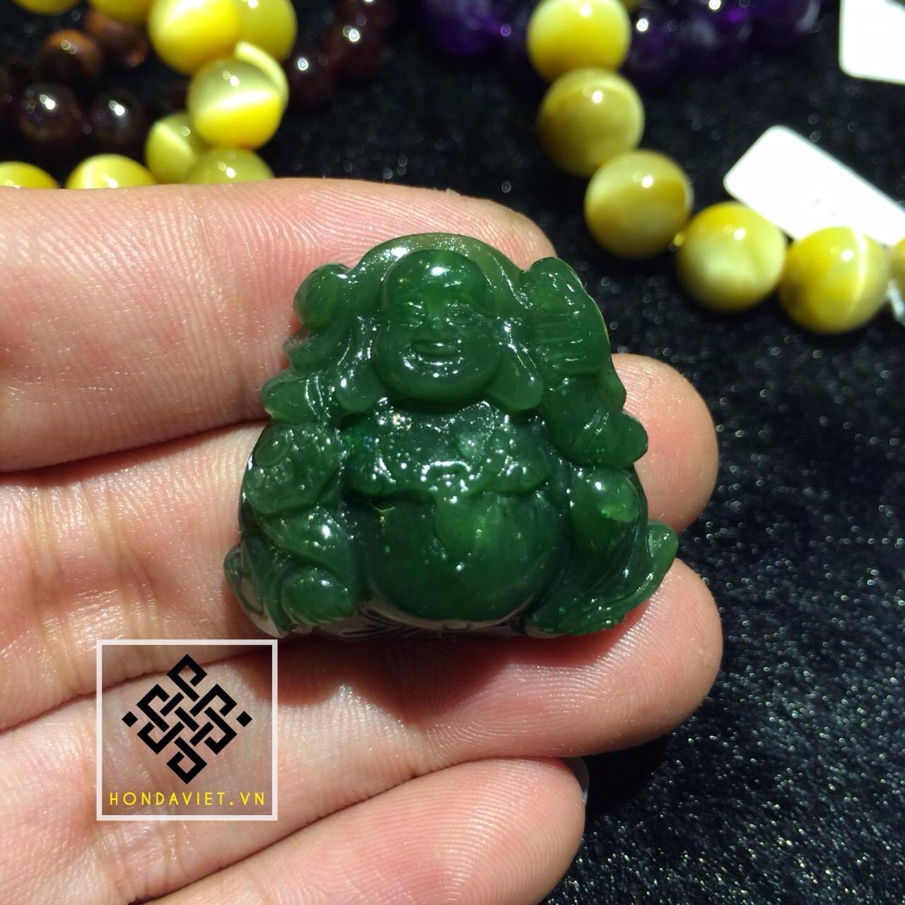 Mặt Dây Chuyền Phật Di Lặc Ngọc Bích (MD021) - 3