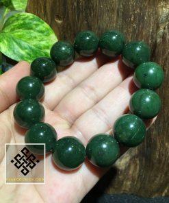 Chuỗi Hạt Vòng Tay Ngọc Bích 14mm - Nephrite Jade (VT005)