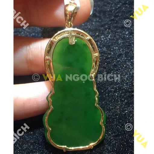 Mặt Dây Phật Quán Thế Âm Bồ Tát Ngọc Bích Nephrite Jade (MD031)