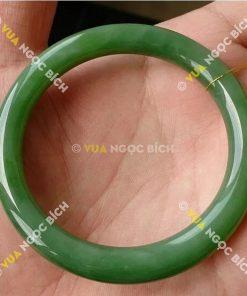 Vòng Tay Ngọc Bích Nephrite Jade Bản Liền (VT007)