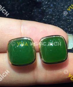 Bông Tai Ngọc Bích Nephrite Jade (BT016)