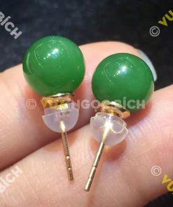 Bông Tai Ngọc Bích Nephrite Jade (BT017)