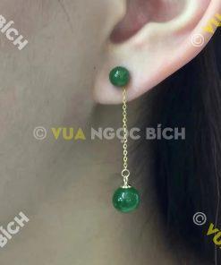 Bông Tai Ngọc Bích Nephrite Jade (BT021)