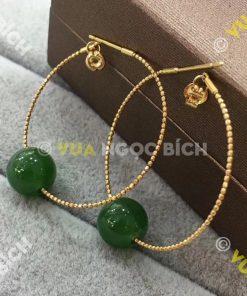 Bông Tai Ngọc Bích Nephrite Jade (BT022)