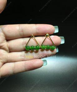 Bông Tai Ngọc Bích Nephrite Jade (BT014)