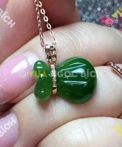 Mặt Dây Bao Tiền Ngọc Bích Nephrite Jade (MD034)