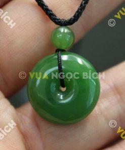 Mặt Dây Đồng Điếu Ngọc Bích Nephrite Jade (MD027)