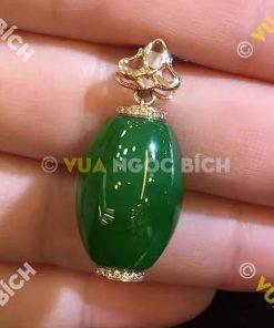 Mặt Dây Lu Thống Ngọc Bích Nephrite Jade (MD033)