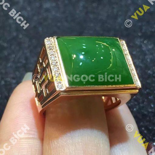 Nhẫn Ngọc Bích Nephrite Jade (NN012)