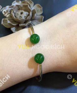 Lắc Tay Vàng Ngọc Bích Nephrite Jade (VT015)