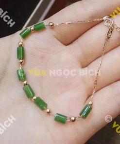 Lắc Tay Vàng Ngọc Bích Nephrite Jade (VT016)