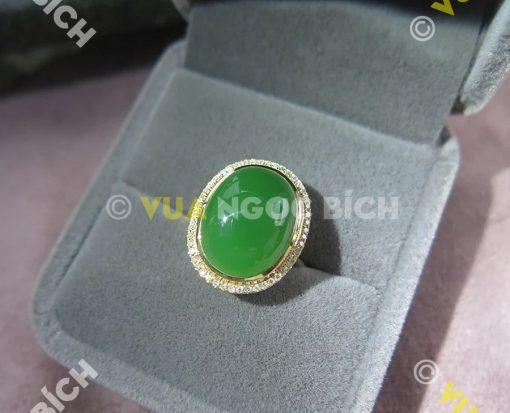 Nhẫn Ngọc Bích Nephrite Jade (NN028)