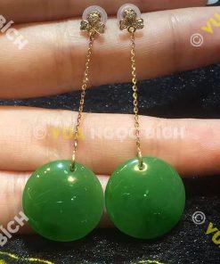 Bông Tai Ngọc Bích Nephrite Jade (BT026)