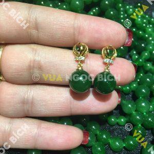 Bông Tai Ngọc Bích Nephrite Jade (BT027)