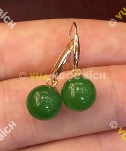 Bông Tai Ngọc Bích Nephrite Jade (BT030)