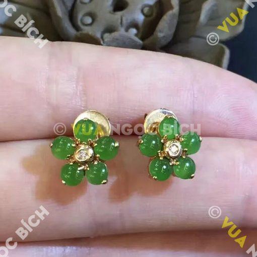 Bông Tai Ngọc Bích Nephrite Jade (BT031)
