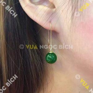 Bông Tai Ngọc Bích Nephrite Jade (BT032)