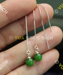 Bông Tai Ngọc Bích Nephrite Jade (BT033)