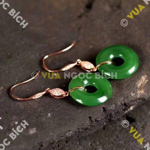 Bông Tai Ngọc Bích Nephrite Jade (BT036)