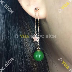 Bông Tai Ngọc Bích Nephrite Jade (BT037)