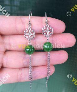 Bông Tai Ngọc Bích Nephrite Jade (BT038)