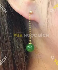Bông Tai Ngọc Bích Nephrite Jade (BT039)
