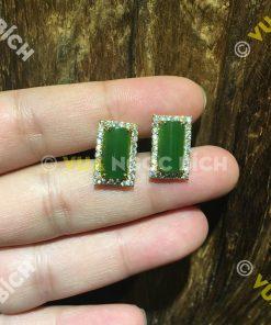 Bông Tai Ngọc Bích Nephrite Jade (BT041)