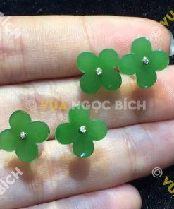 Bông Tai Ngọc Bích Nephrite Jade (BT046)