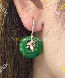 Bông Tai Ngọc Bích Nephrite Jade (BT048)