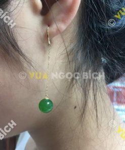 Bông Tai Ngọc Bích Nephrite Jade (BT049)