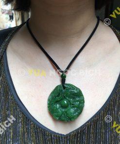 Mặt Dây Long Phụng Sum Vầy Ngọc Bích Nephrite Jade (MD049)