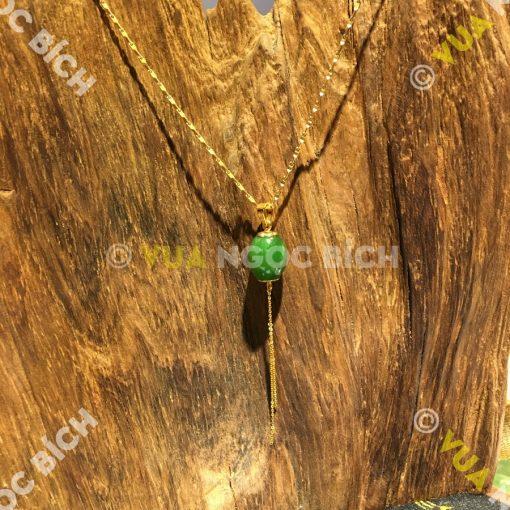 Mặt Dây Lu Thống Ngọc Bích Nephrite Jade (MD058)