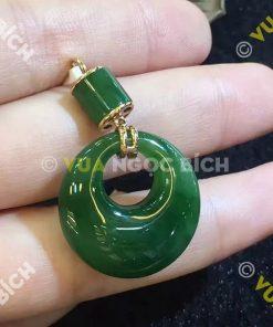 Mặt Dây Ngọc Bích Nephrite Jade (MD036)