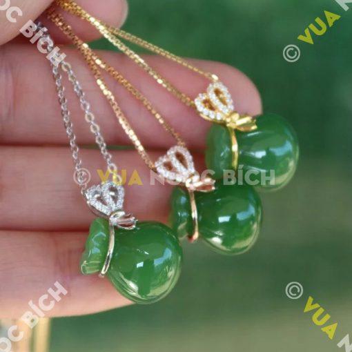 Mặt Dây Túi Tiền Ngọc Bích Nephrite Jade (MD048)