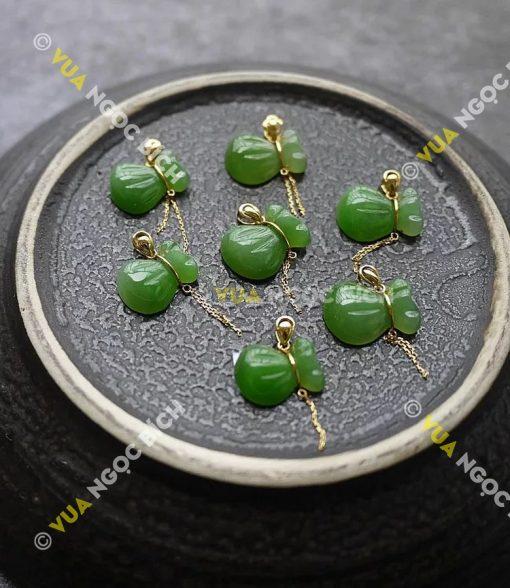 Mặt Dây Bao Tiền Ngọc Bích Nephrite Jade (MD072)