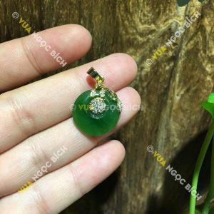Mặt Dây Đồng Điếu Ngọc Bích Nephrite Jade (MD073)