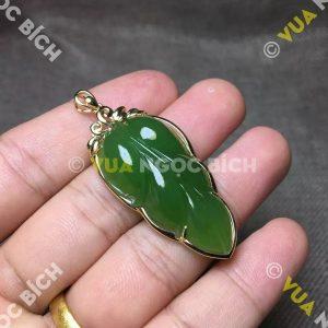Mặt Dây Hình Lá Ngọc Bích Nephrite Jade (MD069)