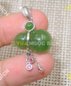 Mặt Dây Hồ Lô Ngọc Bích Nephrite Jade (MD064)