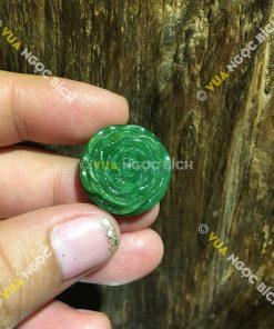 Mặt Dây Hoa Mẫu Đơn Ngọc Bích Nephrite Jade (MD076)
