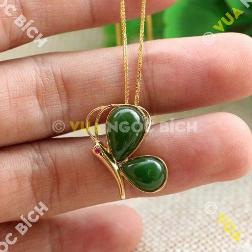 Mặt Dây Ngọc Bích Nephrite Jade (MD066)