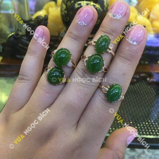 Nhẫn Ngọc Bích Nephrite Jade (NN035)