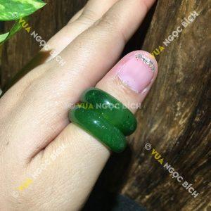 Nhẫn Bầu Ngọc Bích Nephrite Jade (NN030)