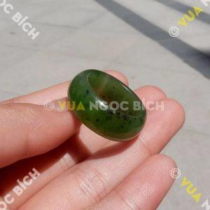 Nhẫn Bầu Ngọc Bích Nephrite Jade (NN033)