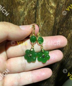 Bông Tai Ngọc Bích Nephrite Jade (BT060)