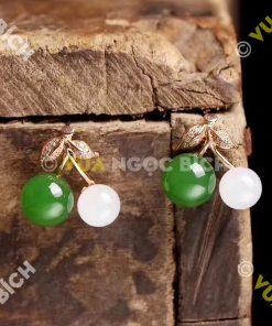 Bông Tai Ngọc Bích Nephrite Jade (BT061)