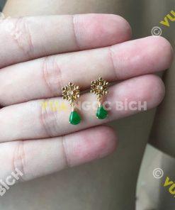 Bông Tai Ngọc Bích Nephrite Jade (BT062)