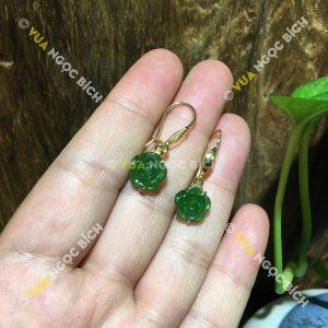 Bông Tai Ngọc Bích Nephrite Jade (BT063)